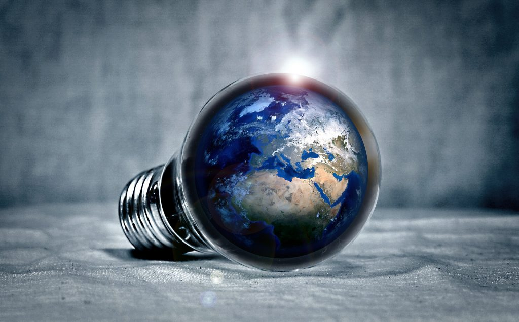 Revolution: Fungi. Earth in a lightbulb. Enable images to view